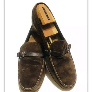 Hermes Shoes - Hermes Brown Suede Loafers Slip On Shoes